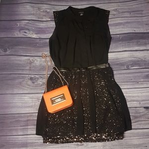 DKNY Gold Sequin Skirt